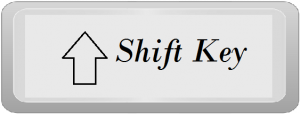 Computer shift key