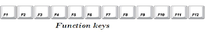 Function keys information for kids