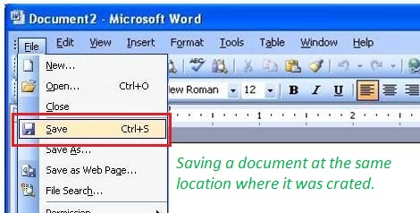How to Save a Document