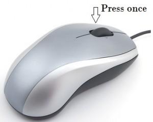 Press once