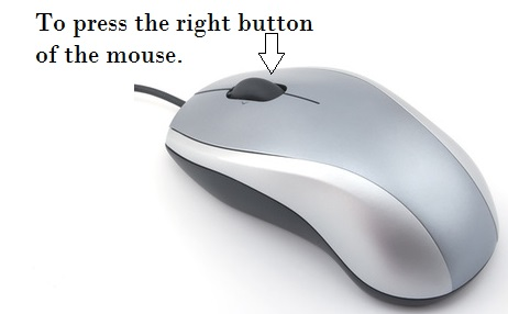 To press the right button of the mouse.