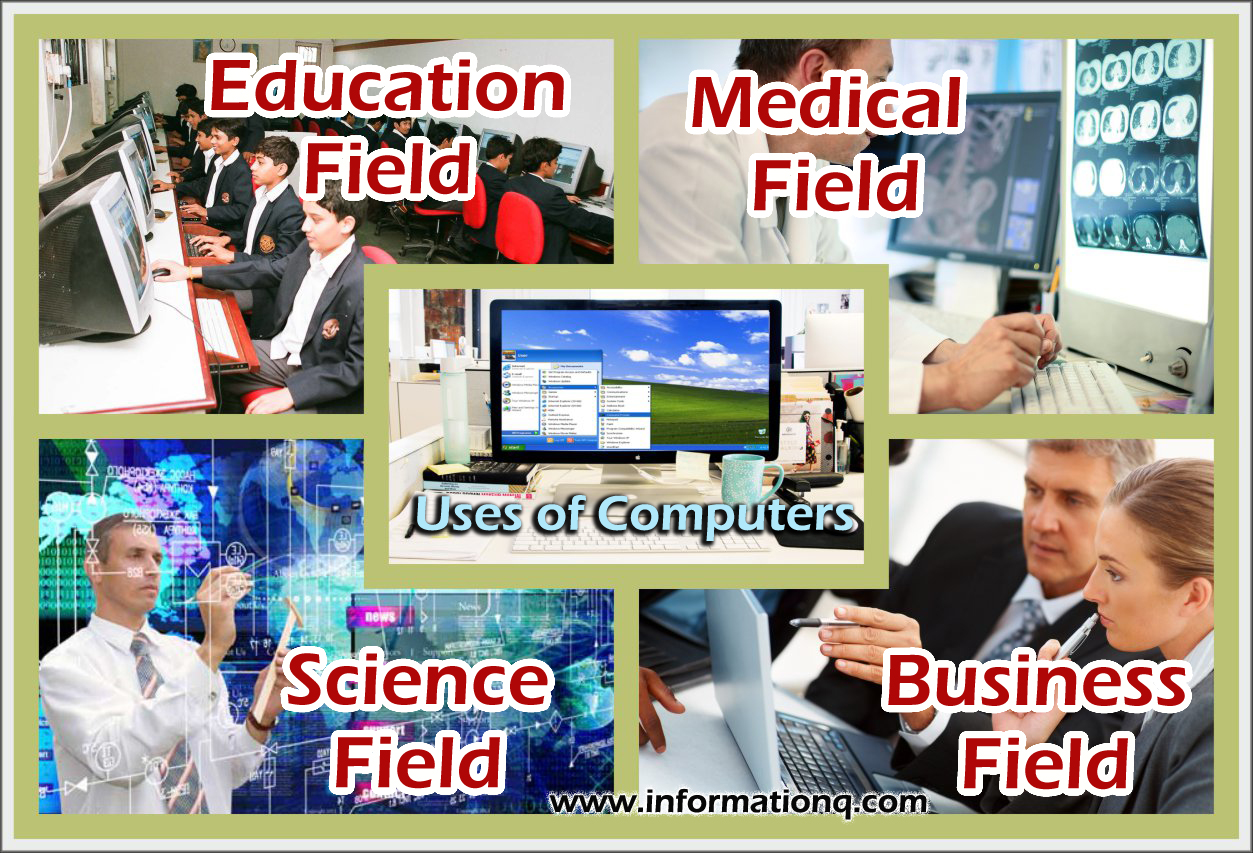 use of computer in different field Uses of computer ,education,health and medicine,science,business,recreation and entertainment,government.