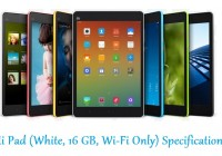 Mi Pad (White, 16 GB, Wi-Fi Only) Specifications
