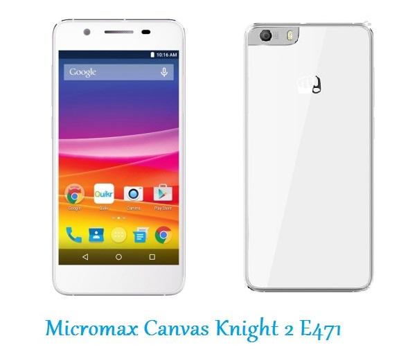 Micromax Canvas Knight 2 E471 White & Champange Gold