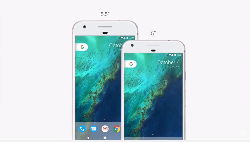 "Google Pixel Phone 2 sizes 5"" or 5.5"""