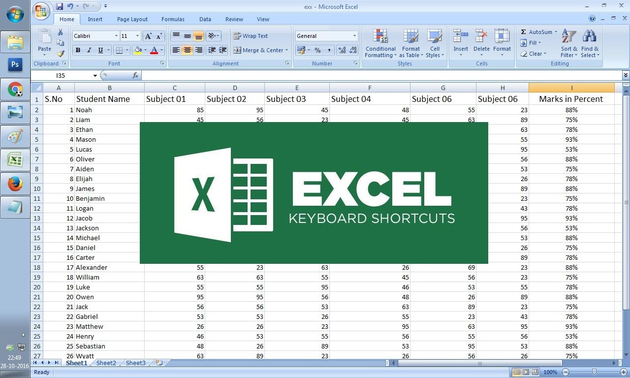Excel Sheet Shortcuts Keys | ALL Excel Sheet Shortcuts at ...