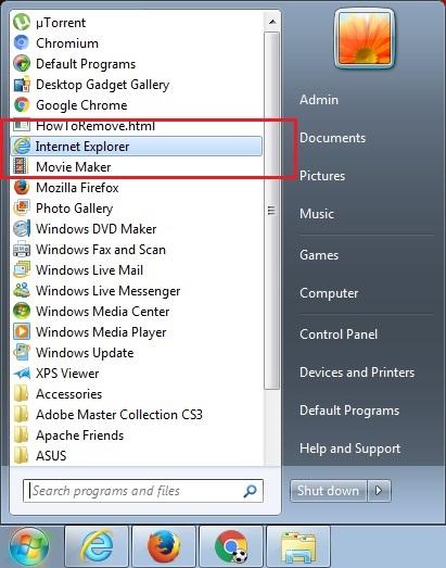 Microsoft Internet Explorer Start