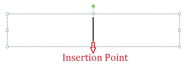 Microsoft Powerpoint Insertion Point