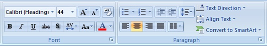 Microsoft Powerpoint Mini Toolbar