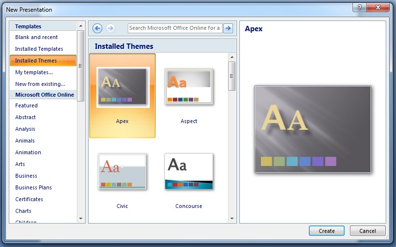 powerpoint 2007 theme