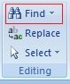 Editing Text in Microsoft Word 2007 Finding Text