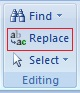 Editing Text in Microsoft Word 2007 Replacing Text