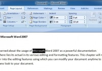 Editing Text in Microsoft Word 2007