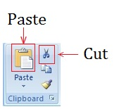Editing Text in Microsoft Word 2007 To move the text