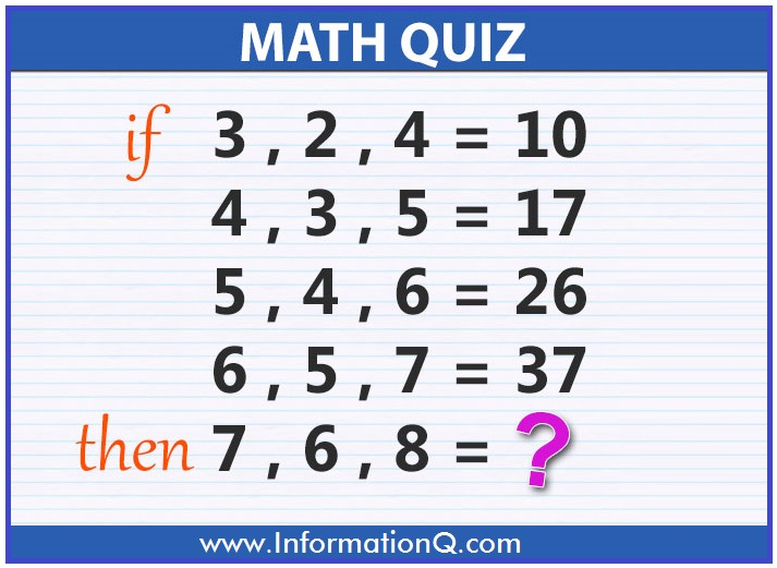 Simple Quiz Questions for Kids | Math Quiz And Answers ...