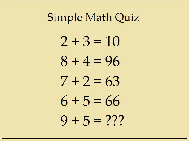 Simple Math Quiz | Answer This Simple Question ...