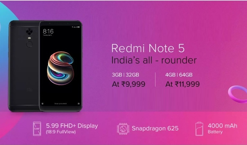 Redmi Note 5 (32& 64GB) (3& 4GB RAM)